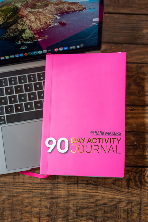 Rank Makers 90-Day Activity Tracker Journal - Pink (annual subscription) Save 20%