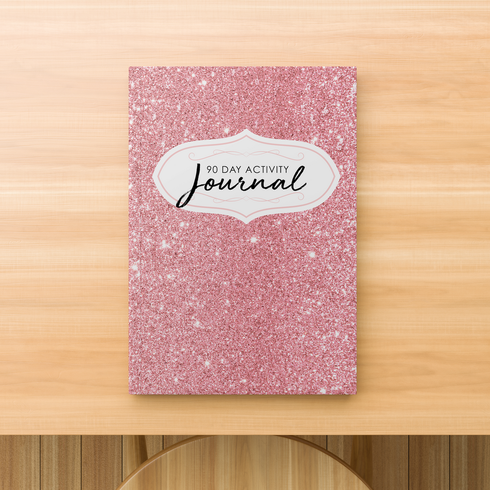 Rank Makers 90-Day Activity Tracker Journal - Pink Sparkle