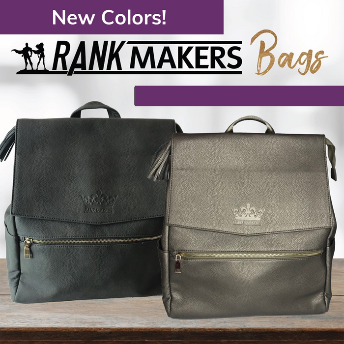 Rank Makers Premium Quality Vegan Leather Backpack