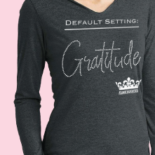 Women's Gratitude Hooded Shirt