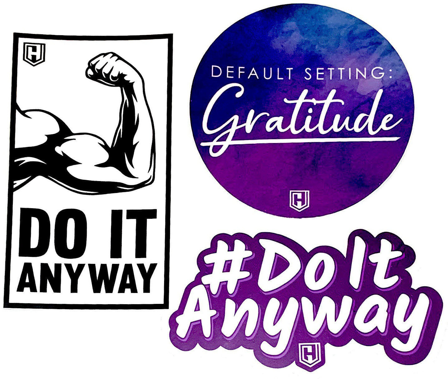 Default Setting & Do It Anyway Decal Sticker Bundle