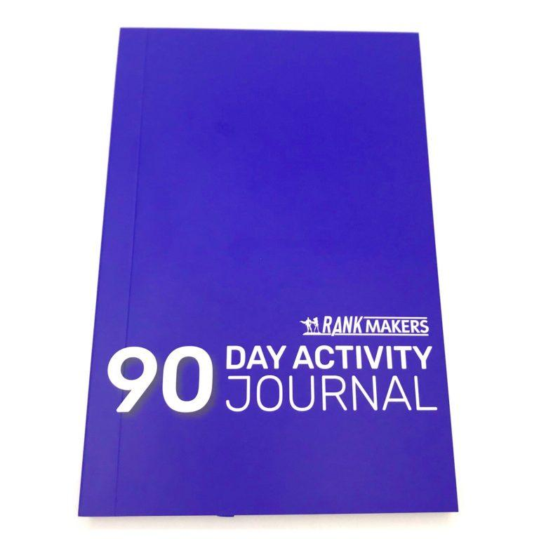 Rank Makers 90-Day Activity Tracker Journal - Cobalt