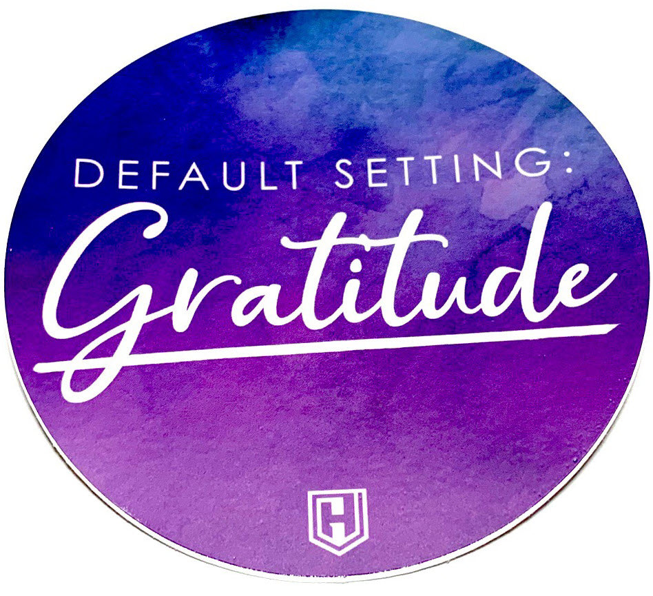 Default Setting: Gratitude Decal Sticker