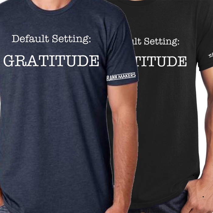 "Men's Default Setting ""Gratitude"" T-Shirt"
