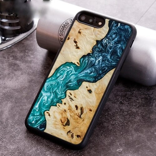 Blue River Resin -Wood Resin Pattern phone cases - worldgad