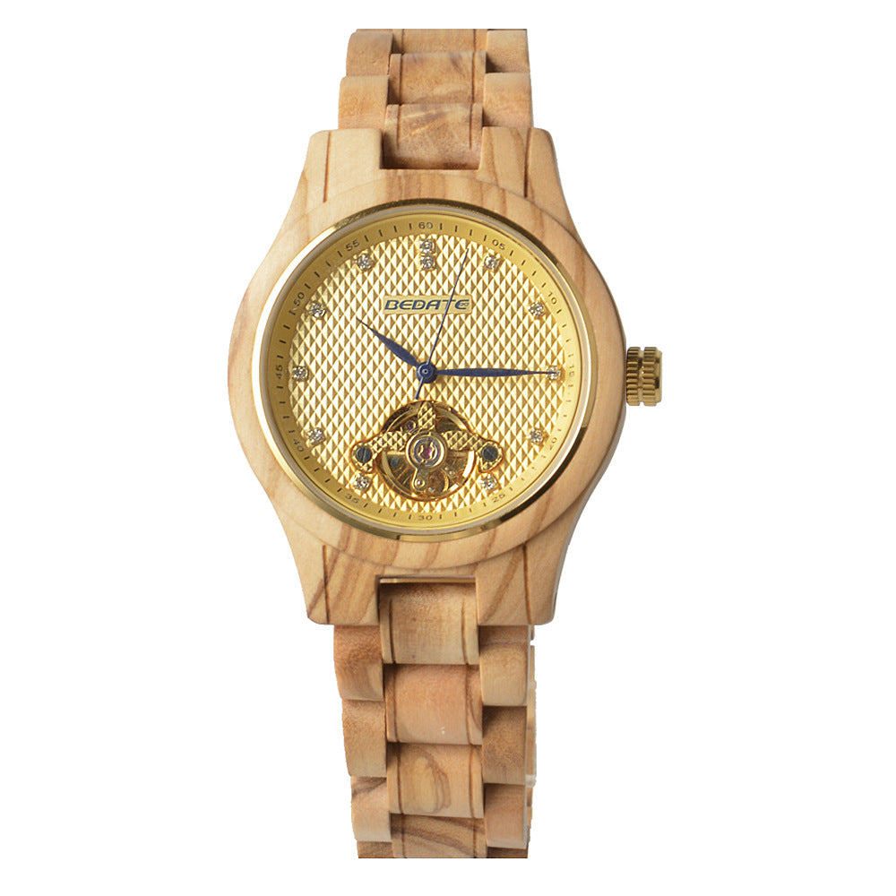 Wholesale new men and women ultra-thin mechanical wood watches - worldgad