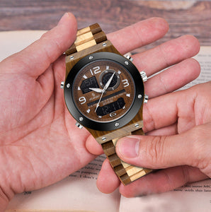Luxury Wood Watch | Handmade Chronograph Men's - worldgad