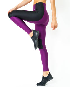 High Waist Contrast Yoga Workout Legging - worldgad