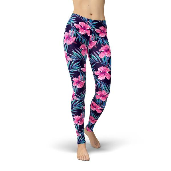Jean Pink Tropical Flowers - worldgad