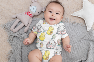 Bunnies & Chicks Onesie - worldgad