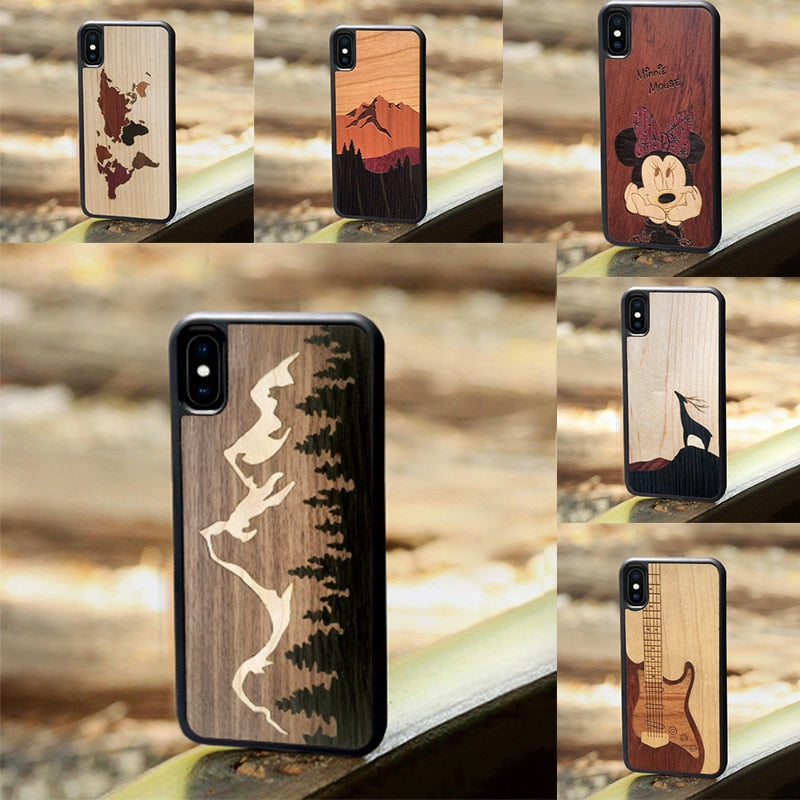 Cute Kitty - Wood phone cases - worldgad