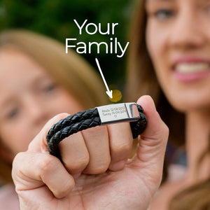 Personalized Custom ID Name Leather  Bracelets - worldgad