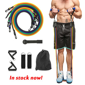 11pcs /set Resistance Belts for Home Gym - worldgad