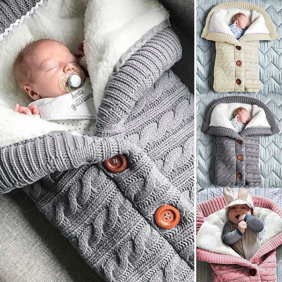 Newborn Winter Baby Swaddle/Sleeping Bag - worldgad