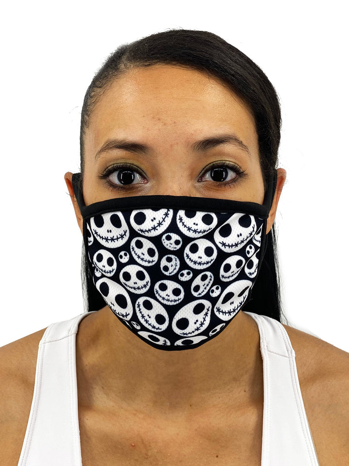 Skellington Face Mask With Filter Pocket - worldgad