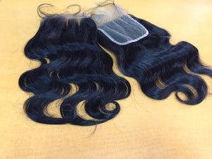 Human Hair Body wave Lace Closure Side Part