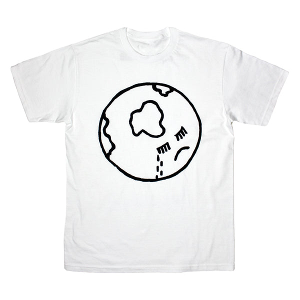 CRYING FACE LOGO WHITE T-SHIRT