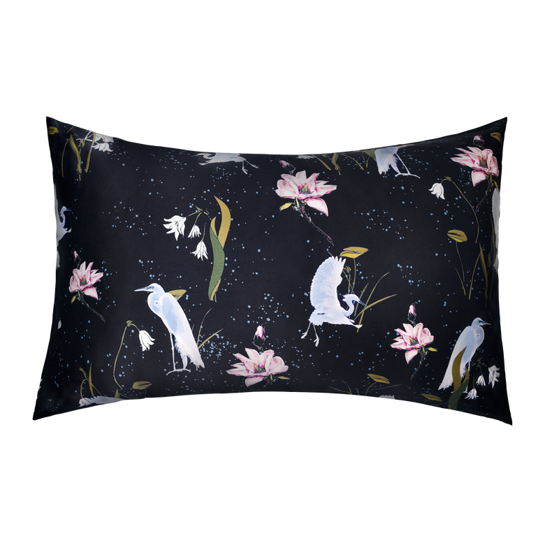 Silk Pillowcase 50x75 cm | Leo Black