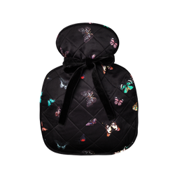 Silk hot water bottle small | columba Black