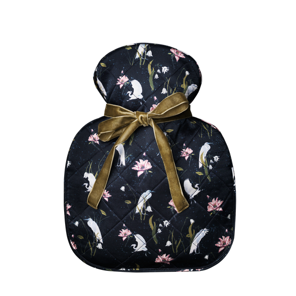 Silk hot water bottle small | leo Black