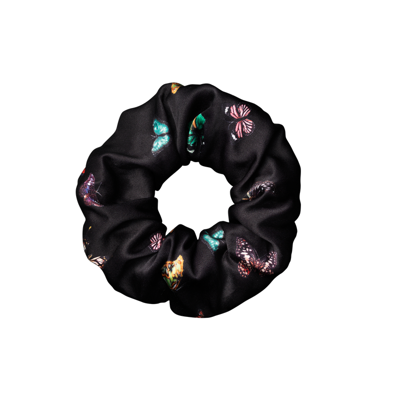 Silk scrunchie | columba Black