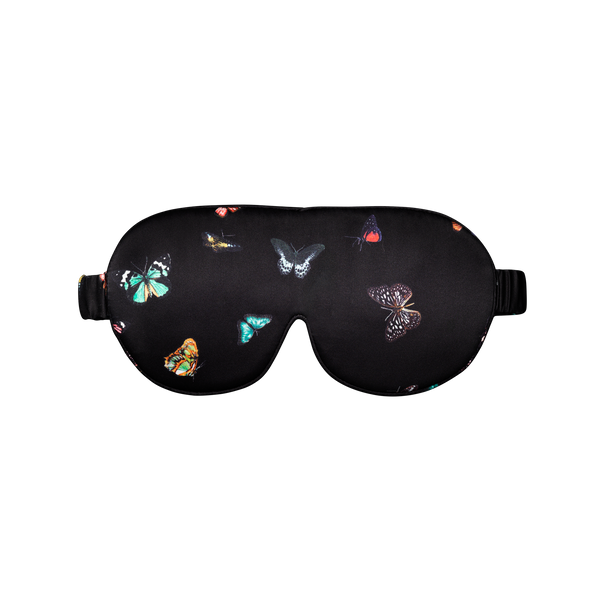 silk sleep mask | columba Black