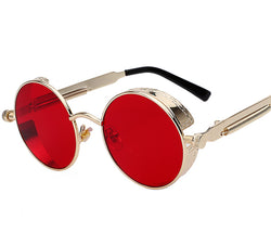 Round Metal Steampunk Sunglasses - Picaka