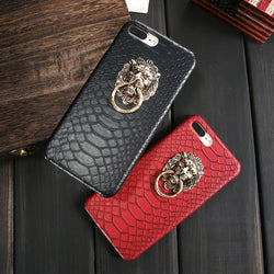 Premium iPhone Cover With Metallic Lion Head - Picaka