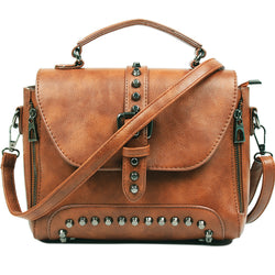 Melissa Vintage Leather Crossbody Bags With Metal Studs - Picaka