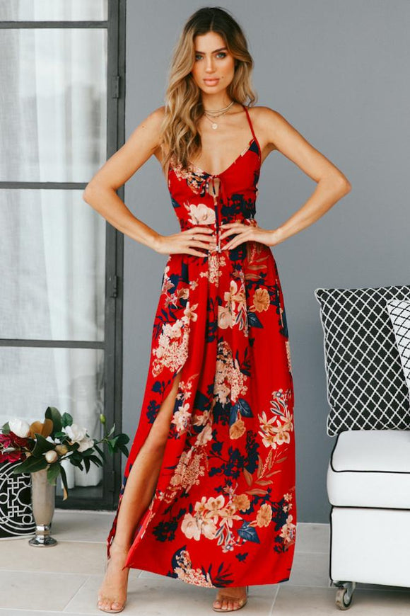 Beautiful Floral Printed Boho Summer Dresses - Picaka