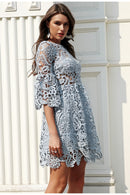 Simply Elegant Lace Short Summer Dress - Picaka