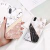 Glittery Marble Block Phone Case For iPhone - Picaka