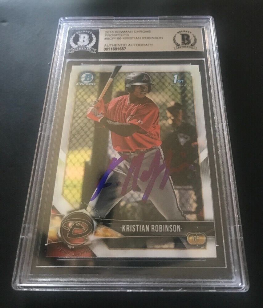 KRISTIAN ROBINSON DIAMONDBACKS 2018 BOWMAN CHROME 44