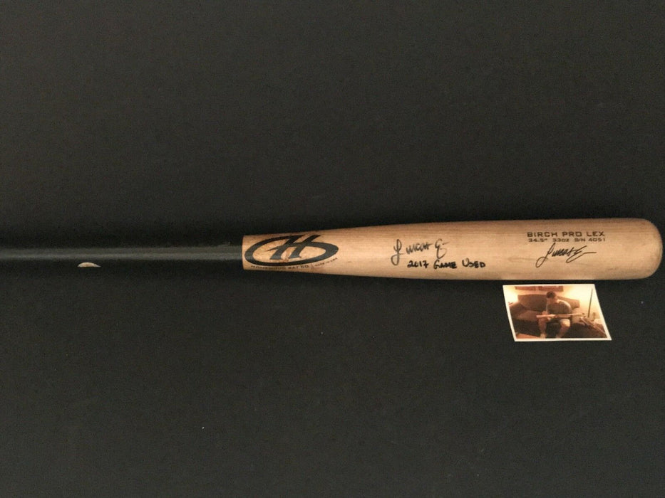 Lucas Erceg Milwaukee Brewers Autographed Signed 2017 Game Used Un-Cracked Bat D