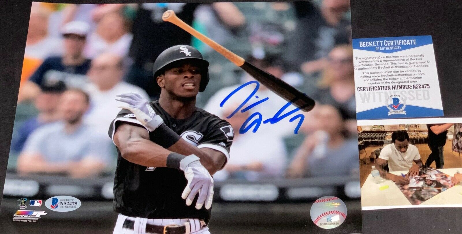 Tim Anderson Chicago White Sox Autographed Signed 8x10 Beckett COA Bat Flip