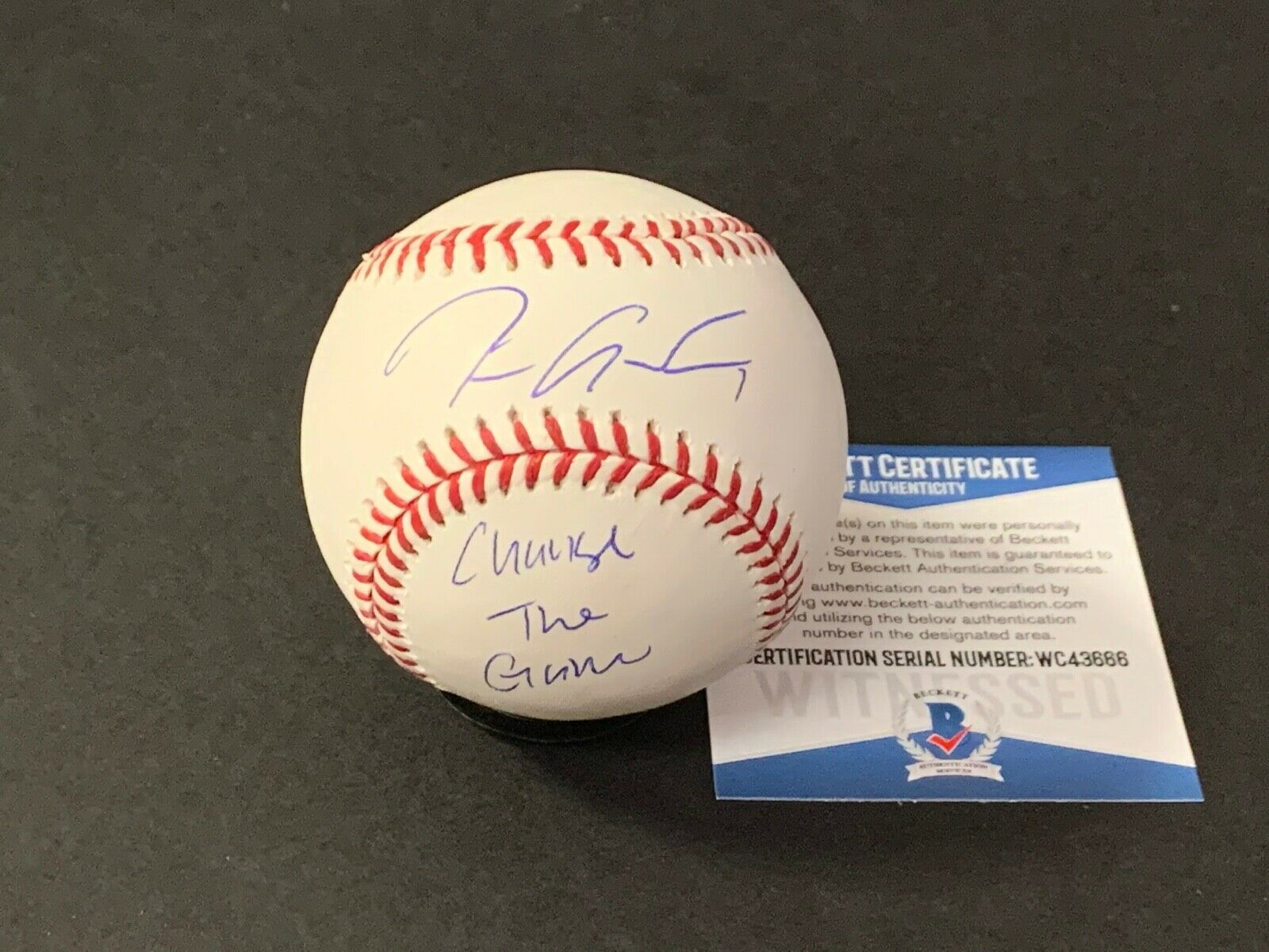 Tim Anderson White Sox Signed Baseball Beckett WITNESS COA CHANGE THE GAME