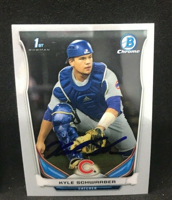 Kyle Schwarber Chicago Cubs SIGNED 2014 BOWMAN CHROME e