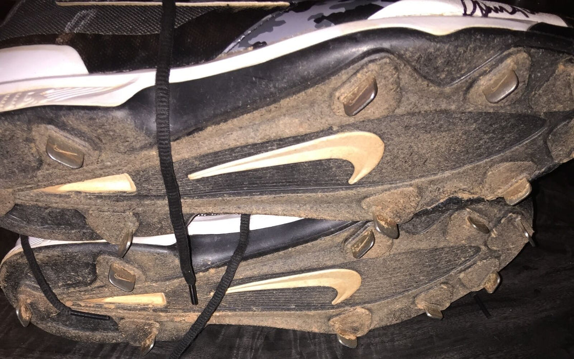 Domingo Acevedo New York Yankees Signed 2015 Game Used High Top Cleats