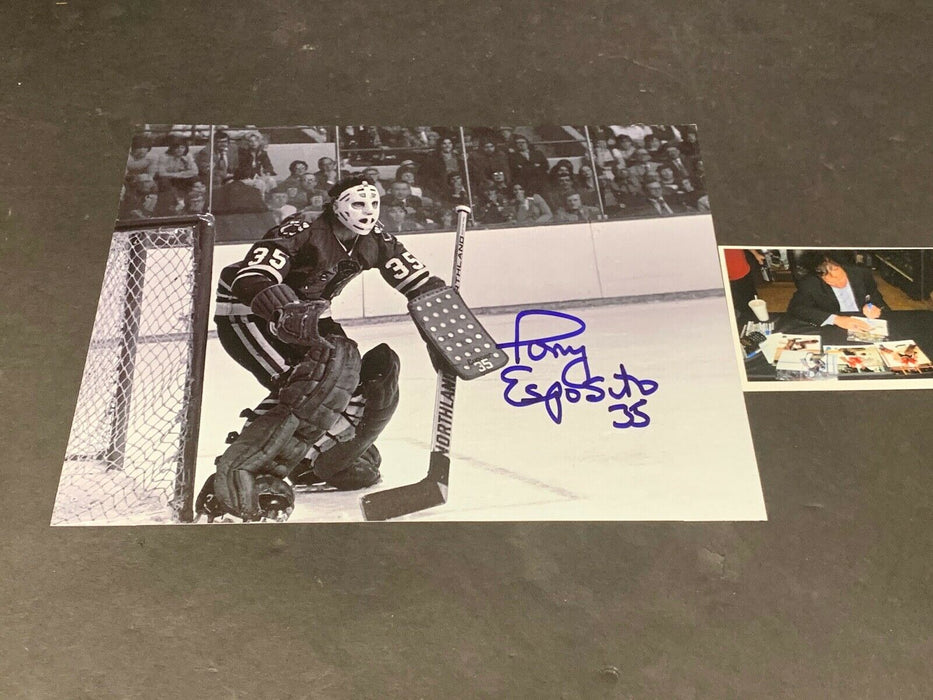 Tony Esposito Chicago Blackhawks Autographed Signed 8x10 c