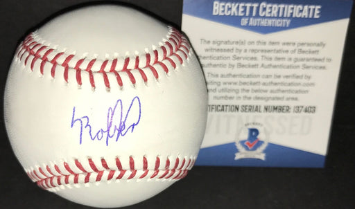 Luis Robert CHICAGO WHITE SOX Autographed Signed Baseball BECKETT WITNESS COA FULL SIGNATURE
