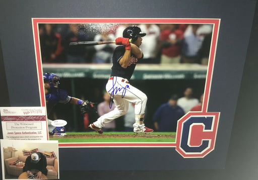 Francisco Mejia Cleveland Indians Signed MATTED 8x10 Photo JSA WITNESS COA C