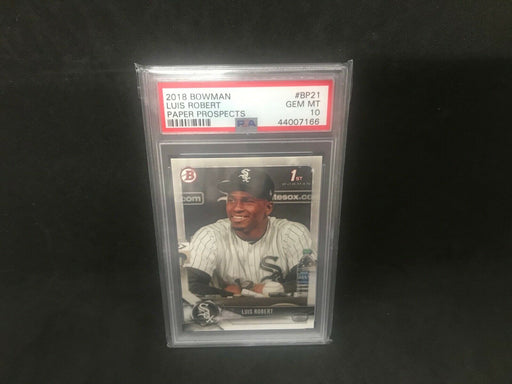 Luis Robert Chicago White Sox 2018 Bowman Paper Rookie PSA 10 Gem Mint BP21 a