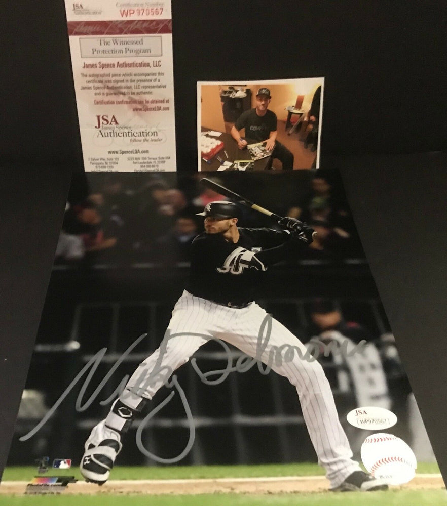 Nicky Delmonico Chicago White Sox JSA WITNESS COA Signed Autographed 8x10 C
