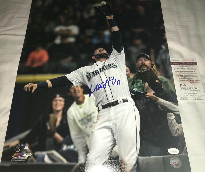 Mitch Haniger Seattle Mariners Autographed Signed 16x20 Photo JSA WITNESS COA B