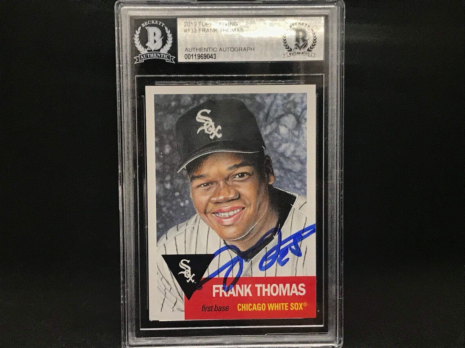 Frank Thomas Chicago White Sox SIGNED 2019 Topps LIVING SET BECKETT CERTIFIED 7