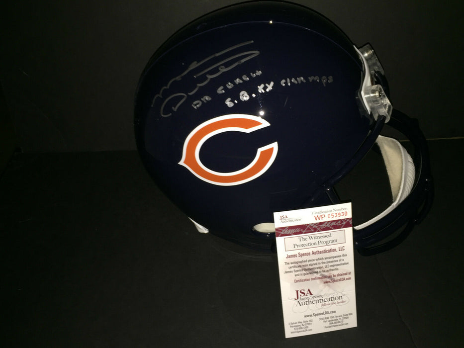 Mike Ditka Chicago Bears Signed Full Size Replica Helmet JSA WITNESS COA 2 Inscr