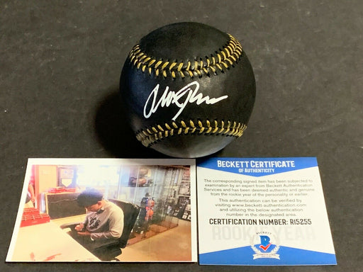 Alek Thomas Arizona Diamondbacks Autographed Signed BLACK Baseball Beckett COA .