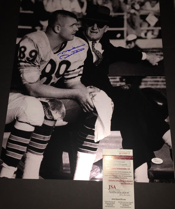 Mike Ditka Chicago Bears Autographed Signed 16x20 JSA WITNESS COA GEORGE HALAS A