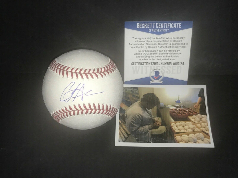 CJ Abrams San Diego Padres Signed Major League Baseball Beckett WITNESS 1