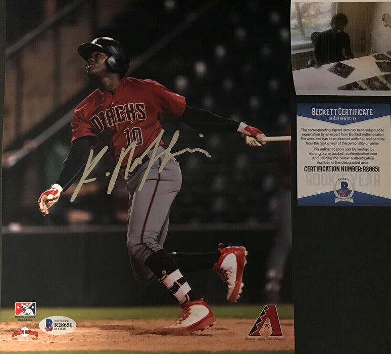 Kristian Robinson Arizona Diamondbacks Signed 8x10 Photo BECKETT ROOKIE COA 2